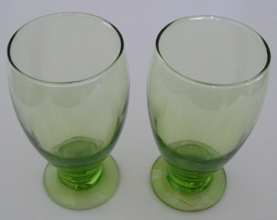green-drinking-glasses